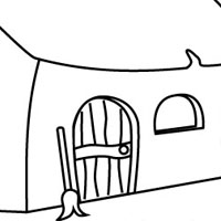 Witch Cottage coloring page