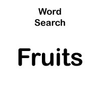 types of fruit word searches