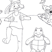 tortoise and rabbit coloring page