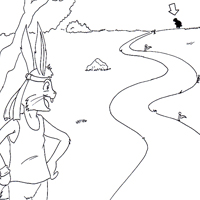 coloring pages turtle and hare - photo#37