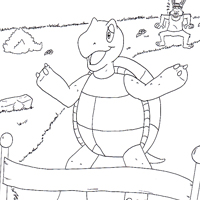 coloring pages turtle and hare - photo#28