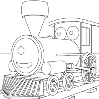 Geremija the train coloring pages