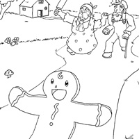 the gingerbreadman story pg4 - The Gingerbread Man Coloring Pages
