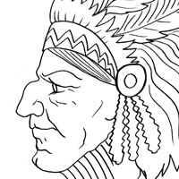indian bust coloring picture