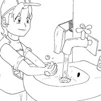 personal hygiene coloring pages - safety first coloring pages