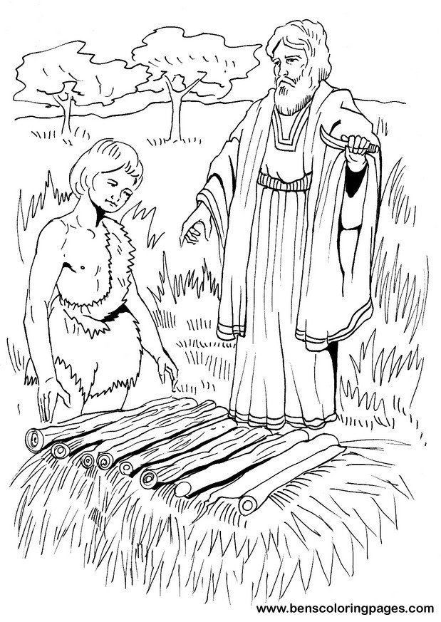 Abraham and Issac Coloring Page - Ministry-To-Children