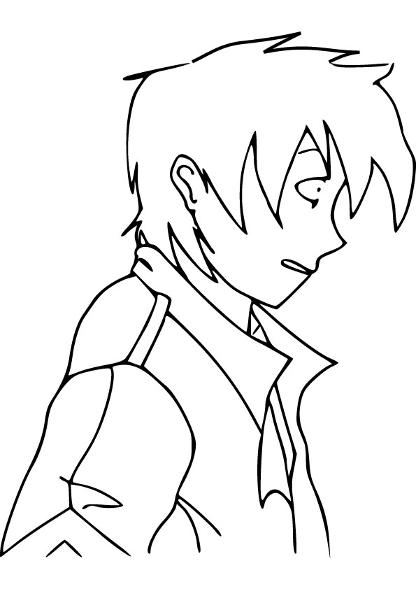 anime boy coloring picture