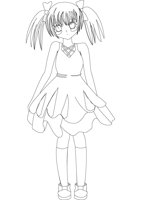 Anime girl drawing picture 2 for Anime girl coloring pages