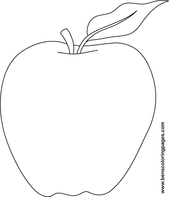 Apple Picture To Color New Calendar Template Site Free Apple Coloring Pages