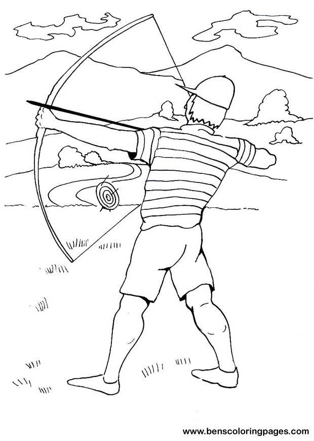 coloring pages archery pictures - photo#19