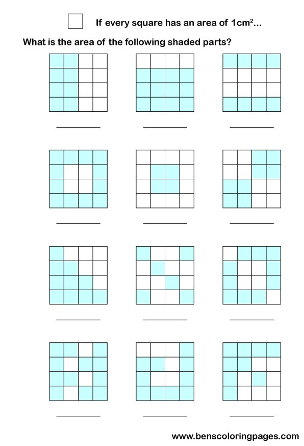 Area math worksheets – Math Worksheets Area