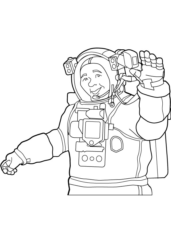 astronaut coloring picture