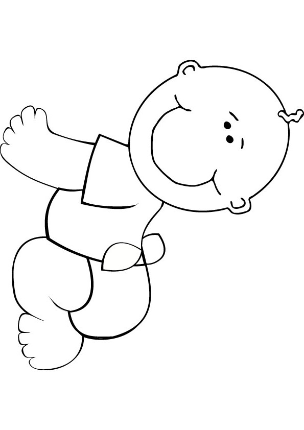 Baby Coloring Picture Printable Baby Coloring Pages