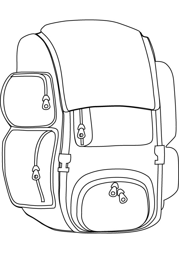 Back pack coloring picture for Backpack coloring page
