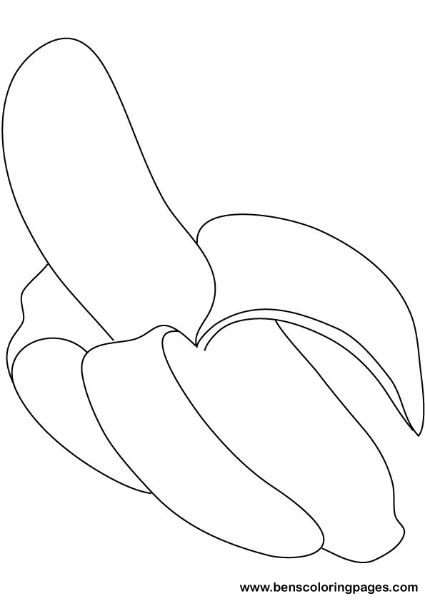 banana coloring picture print