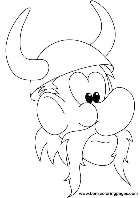 Ben The Viking Coloring Pages Printable