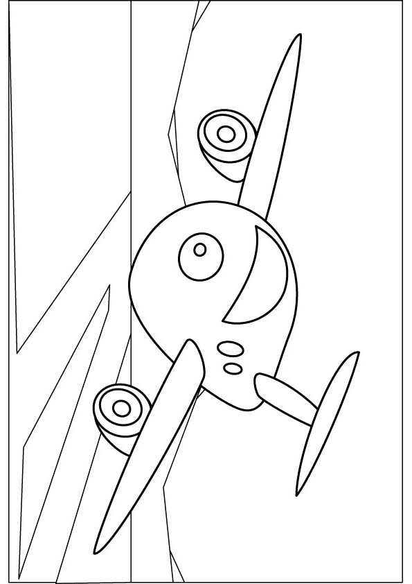big plane coloring picture