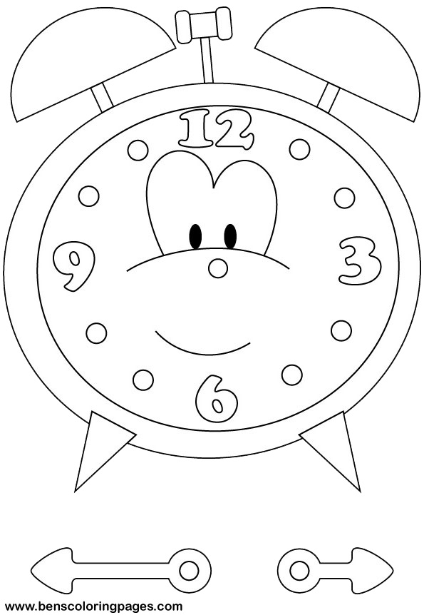 Free Coloring Pages Of Blank Clock Times Coloring Pages