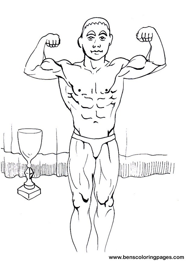 Body Building coloring sheet