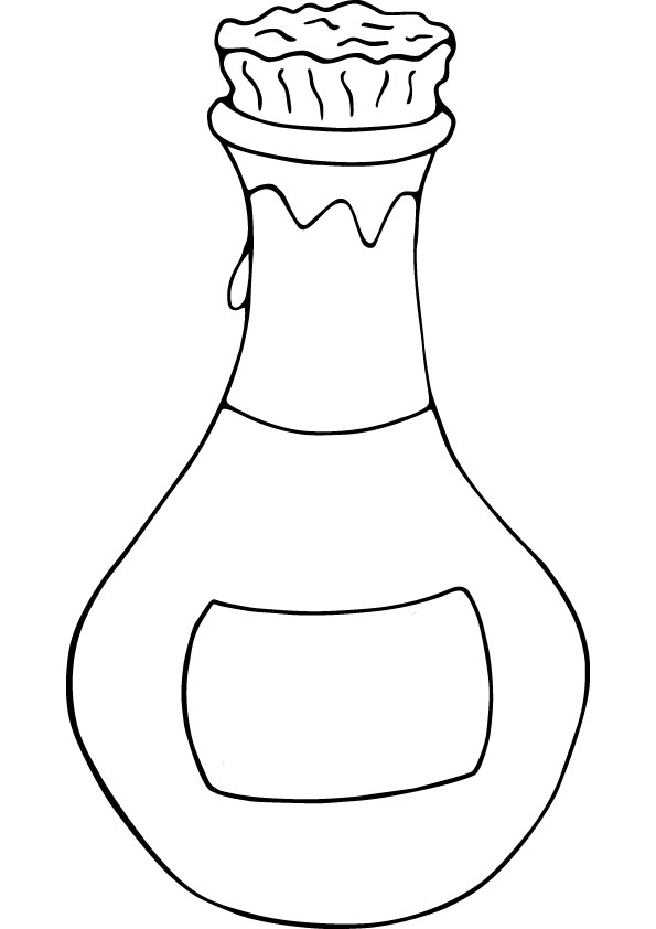 Perfume Bottle Coloring Page Coloring Pages of Bottle Nail Polish Bottles Clipart