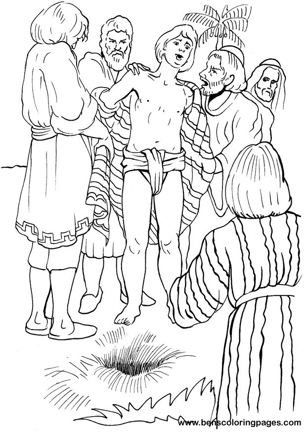 Brothers sell joseph bible coloring page for Bible coloring pages joseph