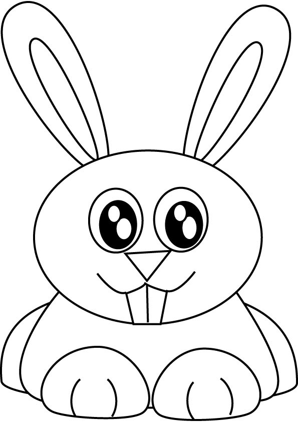 bunny rabbit coloring picture - Bunny Coloring Pages
