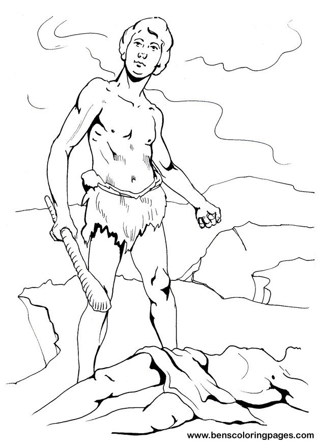 printable cain and abel coloring page - Bible Coloring Pages Cain Abel