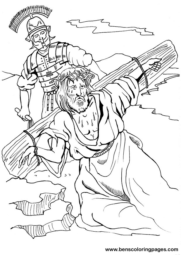Calvary hill bible coloring page