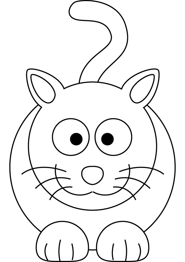 free cat coloring picture