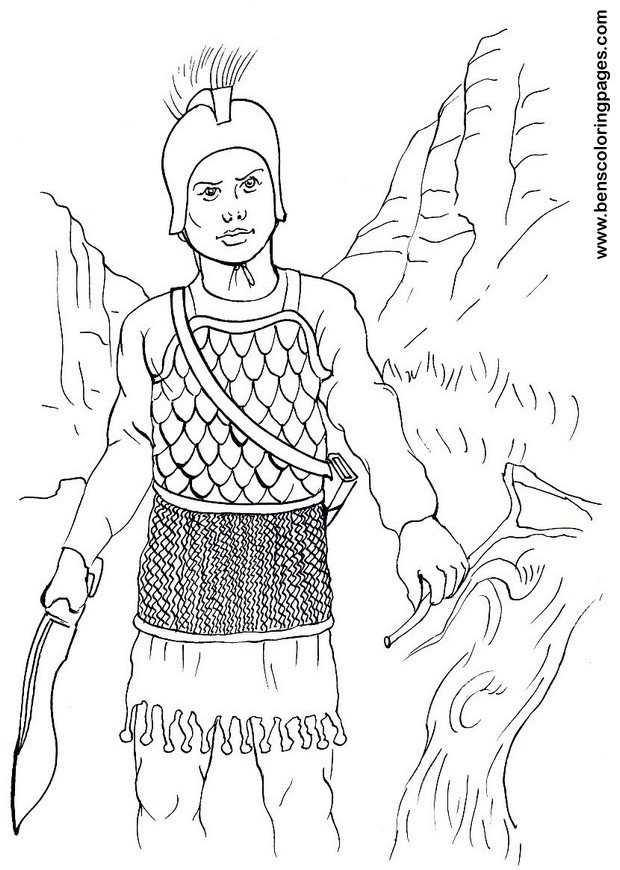 Celt iberian infantry warrior coloring page for free