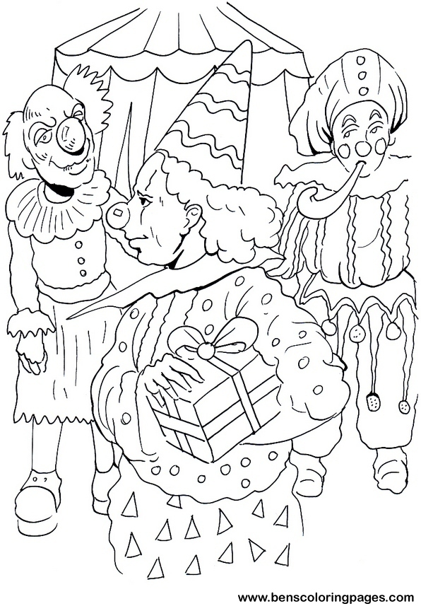 circus coloring sheet for kids