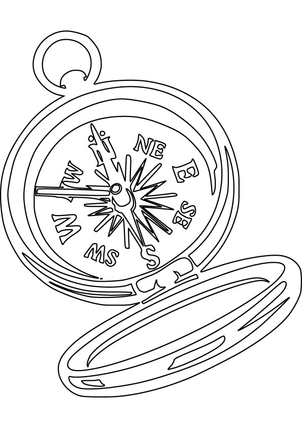 Compass Coloring Picture For Free