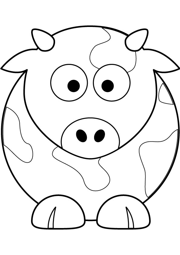 Cow Free Coloring Page Cow Coloring Pages