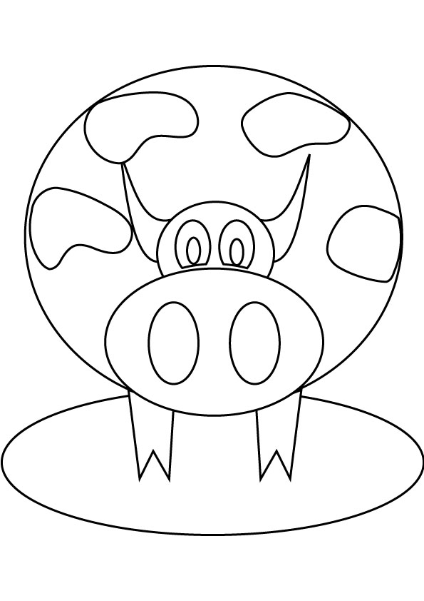 And Fat Cows Skinny Coloring Page Sketch Coloring Page