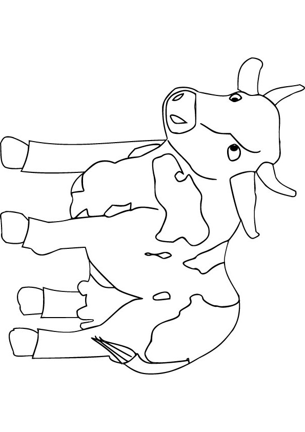Free coloring pages of baby cow