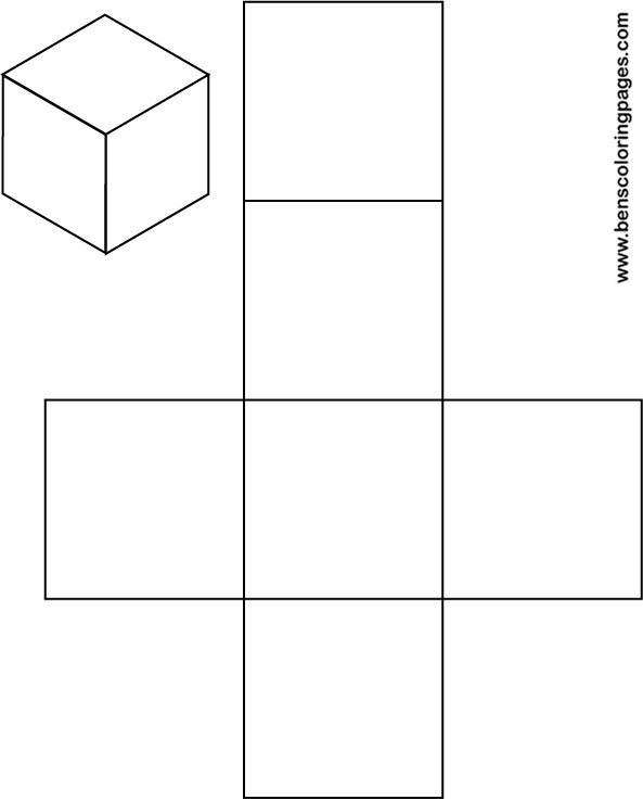 Free Solid Shapes Net Of A Cube