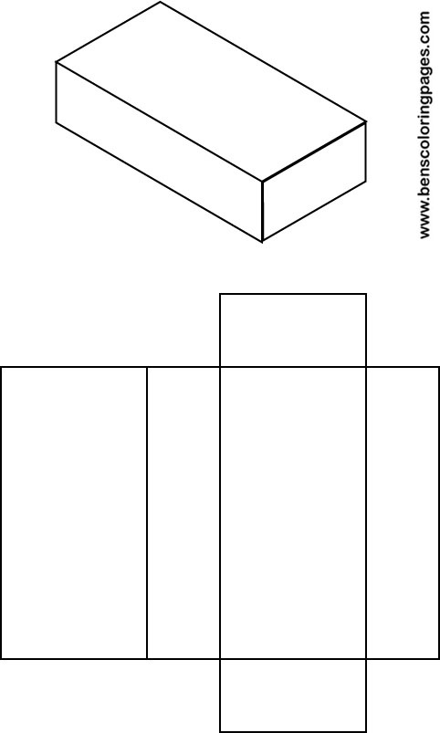 Net Of Cuboids Colouring Pages