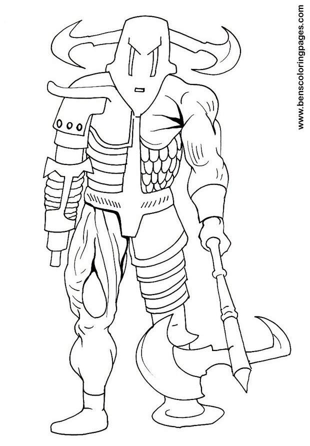 cyborg coloring sheet