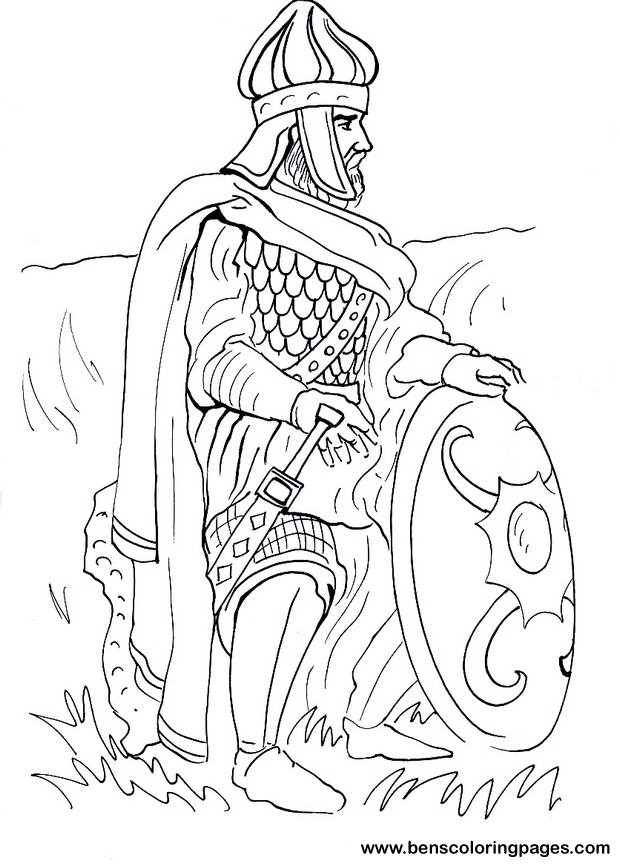 warrior coloring pages for kids - photo#8