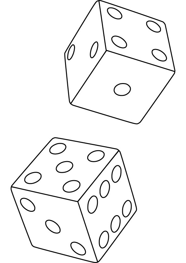 dice coloring pages - photo#3