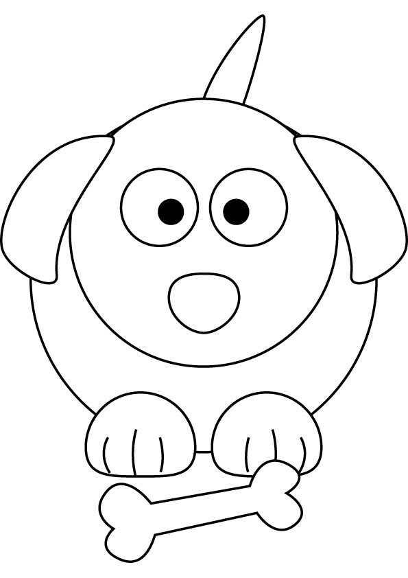 Little puppy free coloring page for Little puppy coloring pages
