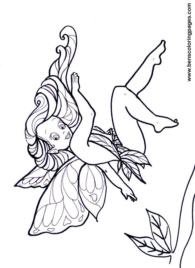 fairies colouring sheet