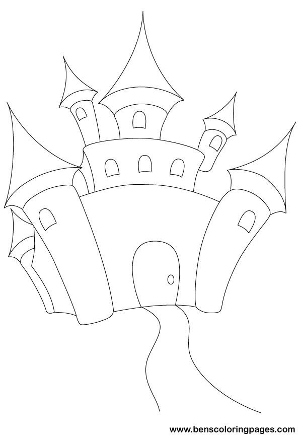 Fairy tale castle coloring book