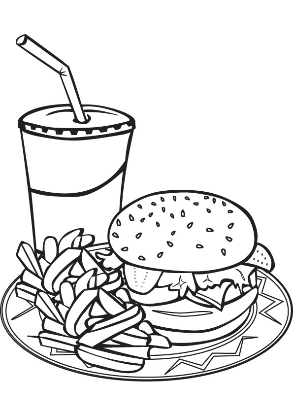 healthy fast food coloring pages - photo#8