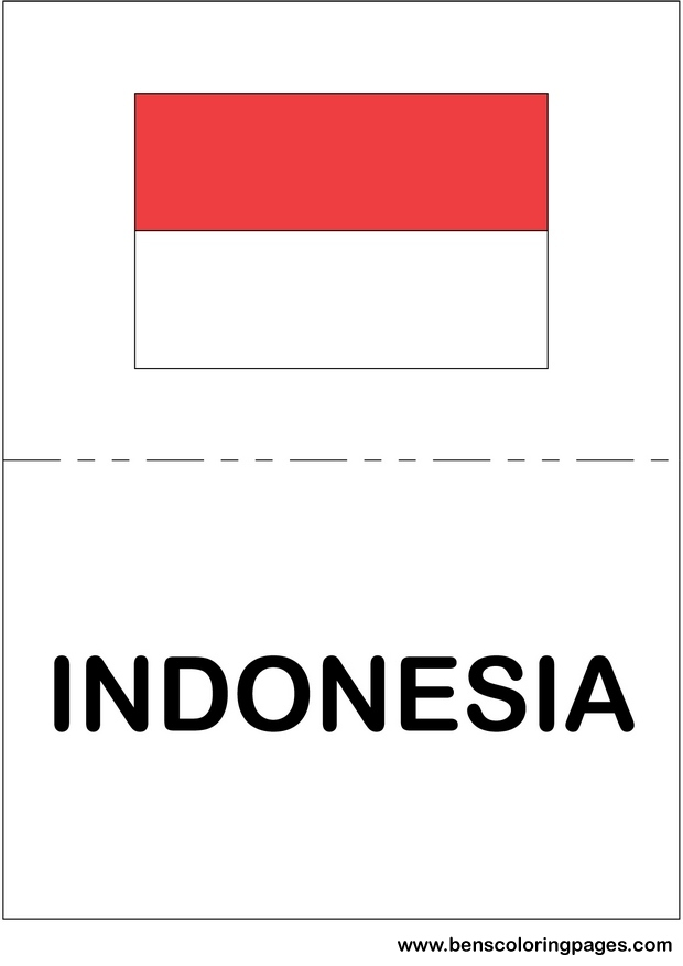 free flag of indonesia