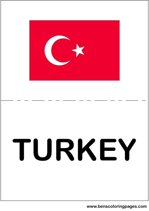 international flags picture of turkey
