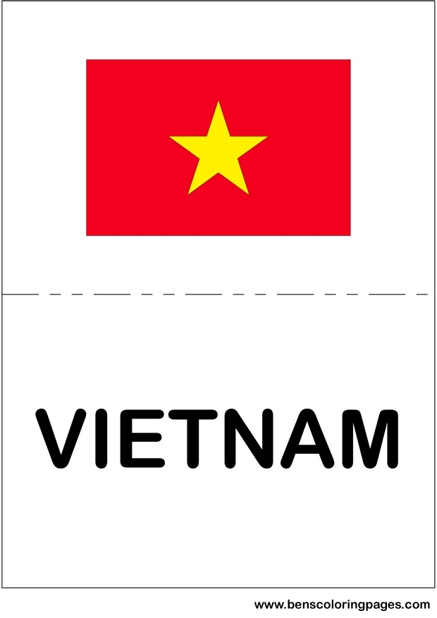 Free coloring pages of vietnam war sheets for Vietnam flag coloring page