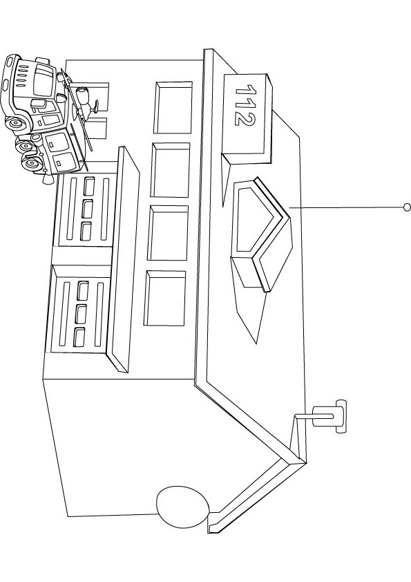 download free fire station drawing page