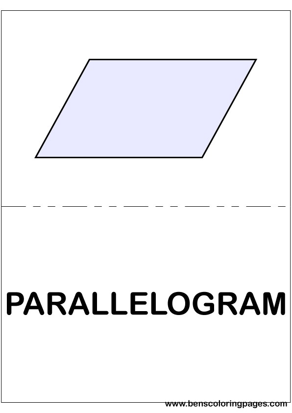 Parallelogram flashcard in English