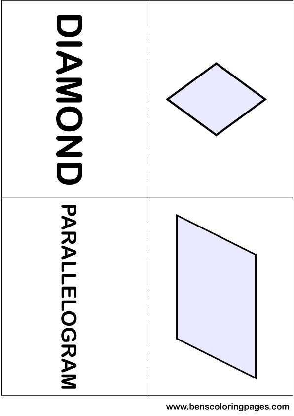 Diamond and parallelogram flashcards in English